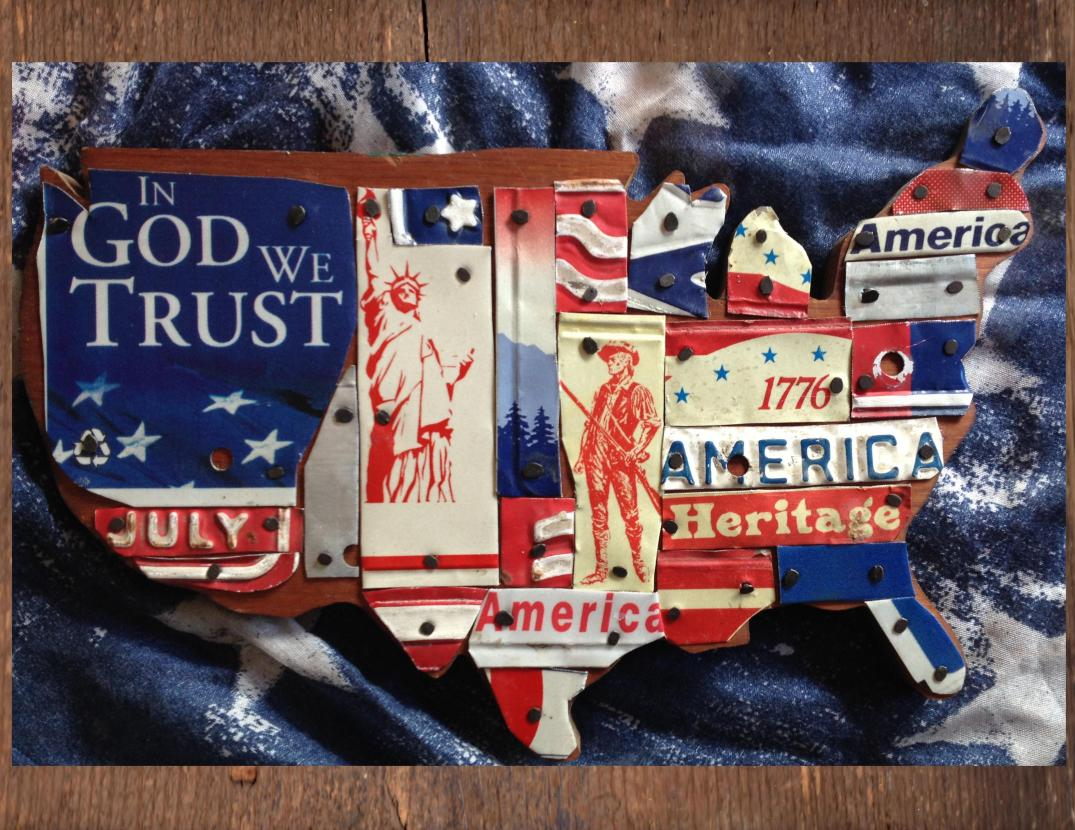 United States Patriotic License Plate Art