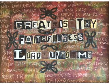 """""""Great is Thy Faithfulness"""" by Laura Kestly"""