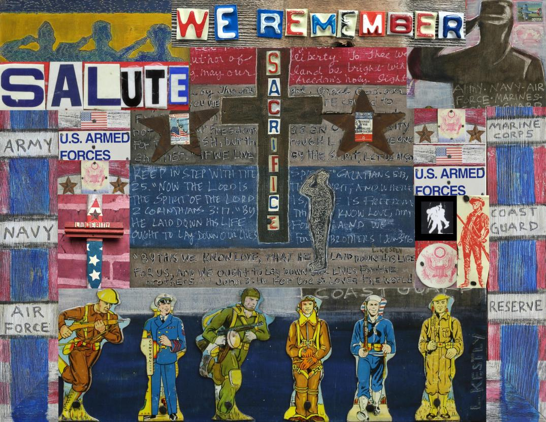 Memorial Day Art Collage